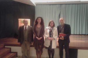 ο Δήμαρχος Θήρας κος Ζώρζος με τα στελέχη του Κ.Π. κα Κουνδουράκη και κα Σωτηρίου και τον κο Μόσχο