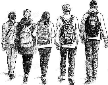 http://www.dreamstime.com/stock-photos-school-children-vector-sketch-walking-teenagers-image44523023